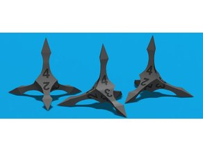 Caltrop d4 Game Die