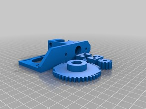 Wade's Geared Extruder single print bed