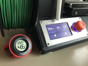 Ugly little holder for cheap LCD hygrometer/thermometer