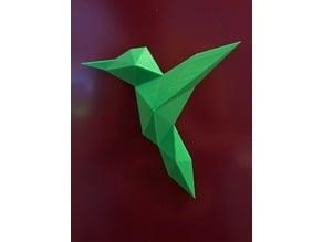 Origami colibri hummingbird
