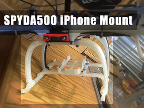 Spyda500 quadcopter iPhone mount for 5S