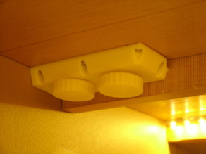 LED undercabinet dimmer cover/ knobs