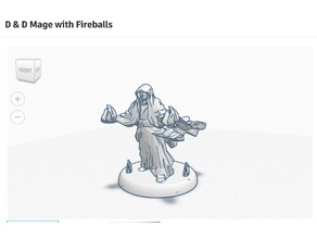 Mage with Fireballs D&D Figurine