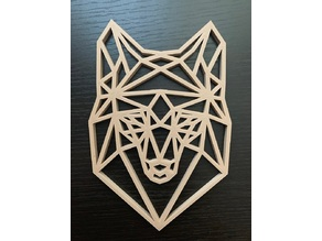 Low Poly Wolf/Husky Face