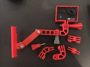 Several GoPro mounting system pieces