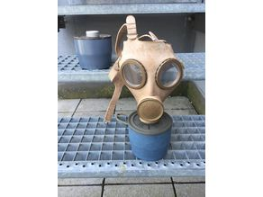standart gas mask filter belgian army ABL 1980