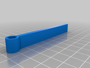 Simple Hex Handle resized for 1/4 inch bits
