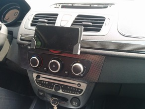 Universal/Nexus 5 holder with QI wireless charge support (renault megane 3)