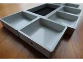Modular Tile Board Game Organizer (magnetic, fully parametric)