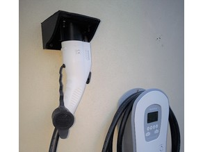 Weather proof holster for exterior EV charge plug