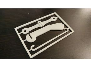 Business card puzzle crossbow for toothpicks