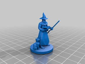 Wizard with Beard and Staff