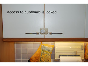 How to turn a double-door kitchen cupboard into a safe