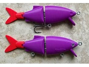 Swimbait fishing Lure 12.5cm (easy print and build)