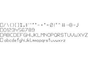 3x4mm Font