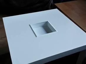 Ikea Lack box-hole