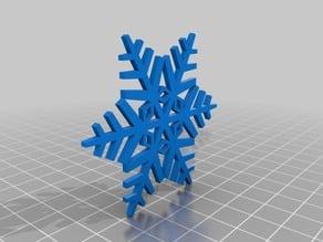 snowflake 65mm x 2mm