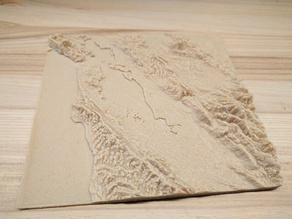San Francisco Bay Area High Resolution Topographic Map