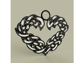 Celtic heart medal