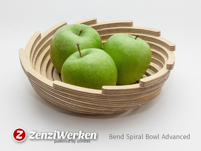 Bend Spiral Bowl Advanced cnc/laser