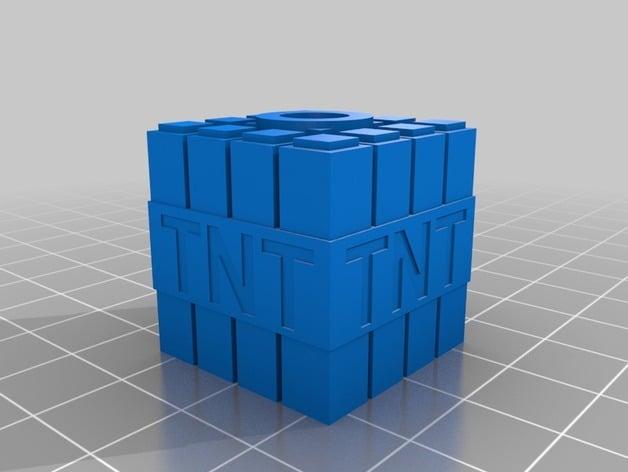 Minecraft Tnt Birthday Candle Holder By Jperrigo Thingiverse
