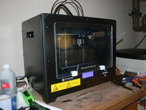 "1/4"" Plexiglass Clip for Monoprice Dual Extrusion 3d printer"