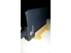portable hard disk support remixed (from wd elements hdd vertical support)