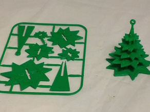 Evergreen Tree Christmas Ornament on Card