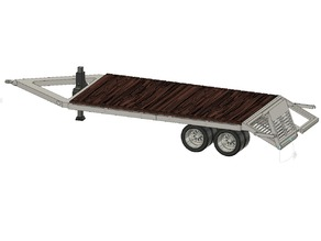 Scale Goose & Straight Neck Equipment Trailer