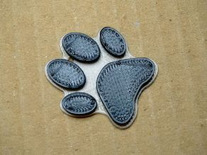 Cat paw pendant