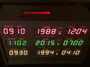 Back to the Future Time Circuit 3D Printed Clock