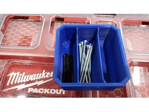 Milwaukee Packout Low Profile 3 Long Compartment Bin
