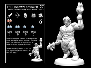 Trollspawn Ravager (18mm scale)