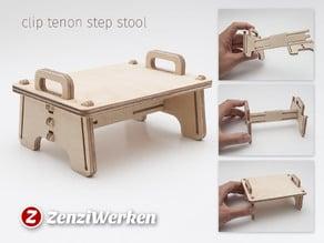 Clip Tenon Step Stool cnc
