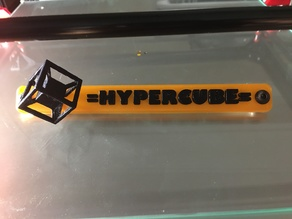 Hypercube Name Plate