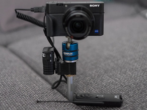 Hotshoe Holder for Radio Remote Control - eg. Sony RX100M3, Fuji EX-2 - to create stunning pictures