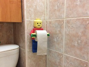 Lego_man. Holder toilet paper (NEW .step)