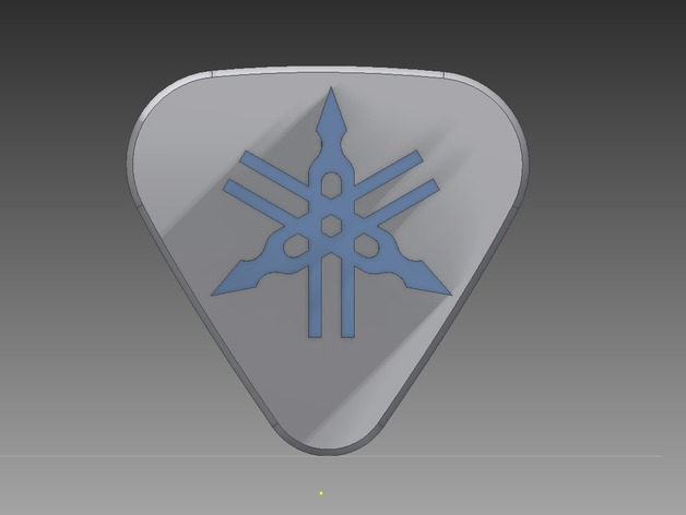 Yamaha Logo Bass Guitar Pick By Geek115