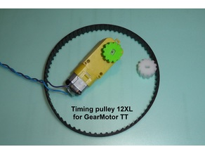 Timing pulley 12XL for GearMotor TT