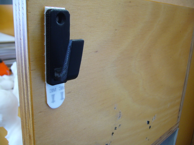 Wall Hook 3M command tape compatible by andrewar - Thingiverse