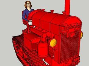 Depósito-radiador para tractor de cadenas