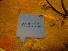 name key hanger