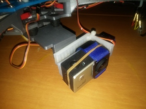 Crossfire Vibration Dampening Battery Trays With Micro Servo Gimbal