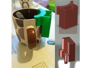 TEA BAG AND SPOON HOLDER (Подставка для чайных пакетика и ложки на кружку)
