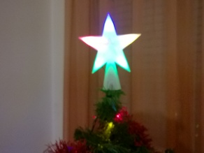 Christmas tree topper remix with light holes