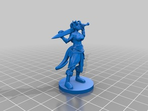 Tiefling Fighter/Barbarian for 28mm Tabletop