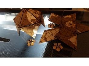 Dymaxion Globe - tabbed wooden vertices - semi parametric