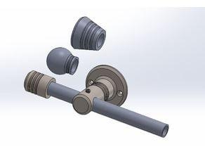 Curtain wall rod holder + end cap