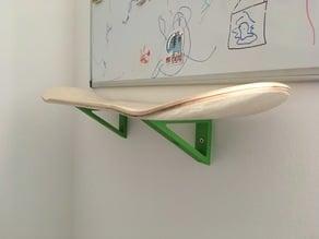 Skateboard deck shelf