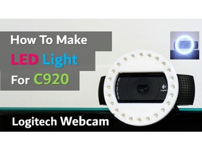 Webcam(C920) LED Ring Light DIY